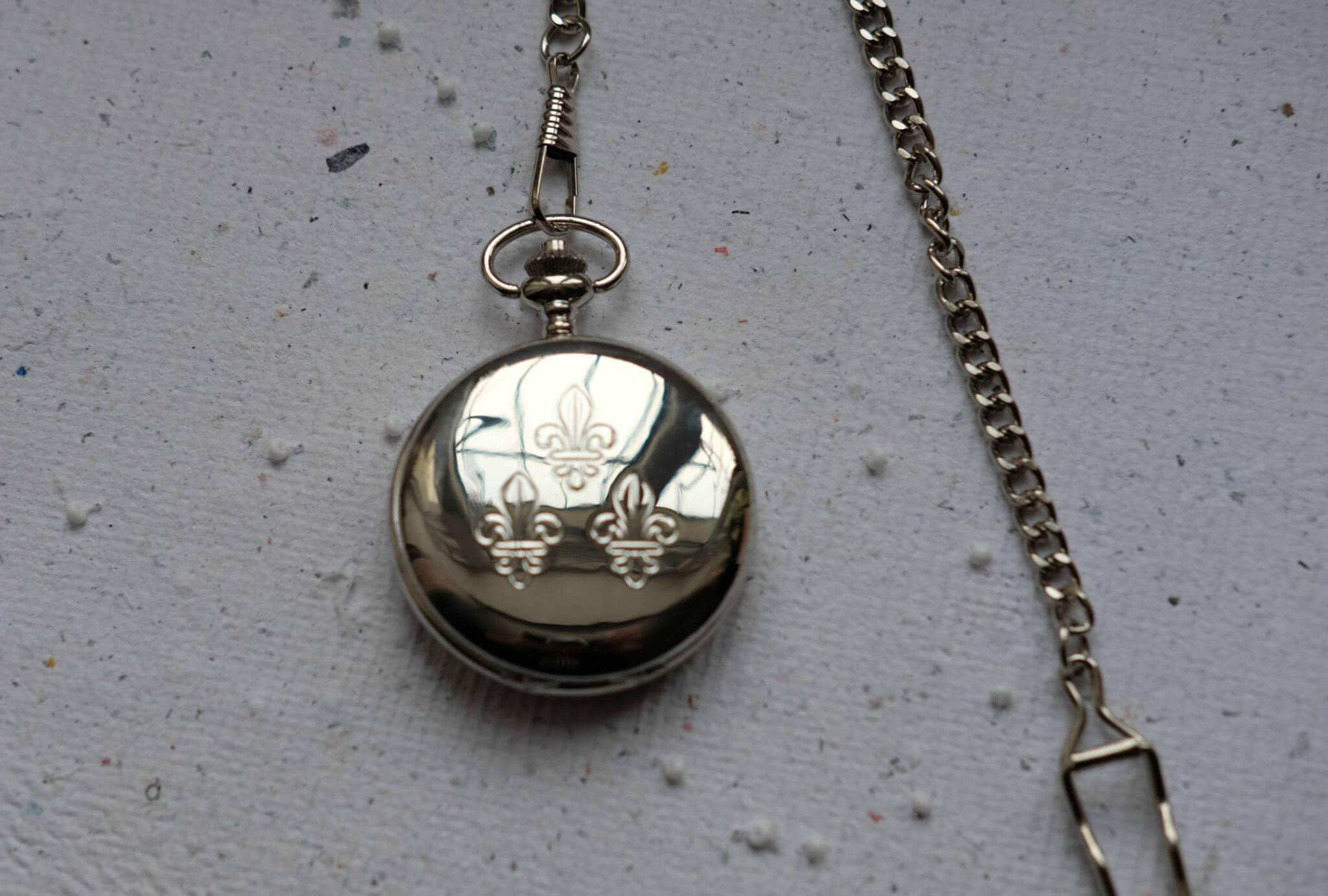 a762e9360 Pocket watch with three lilies | HEFAISTOS.EU